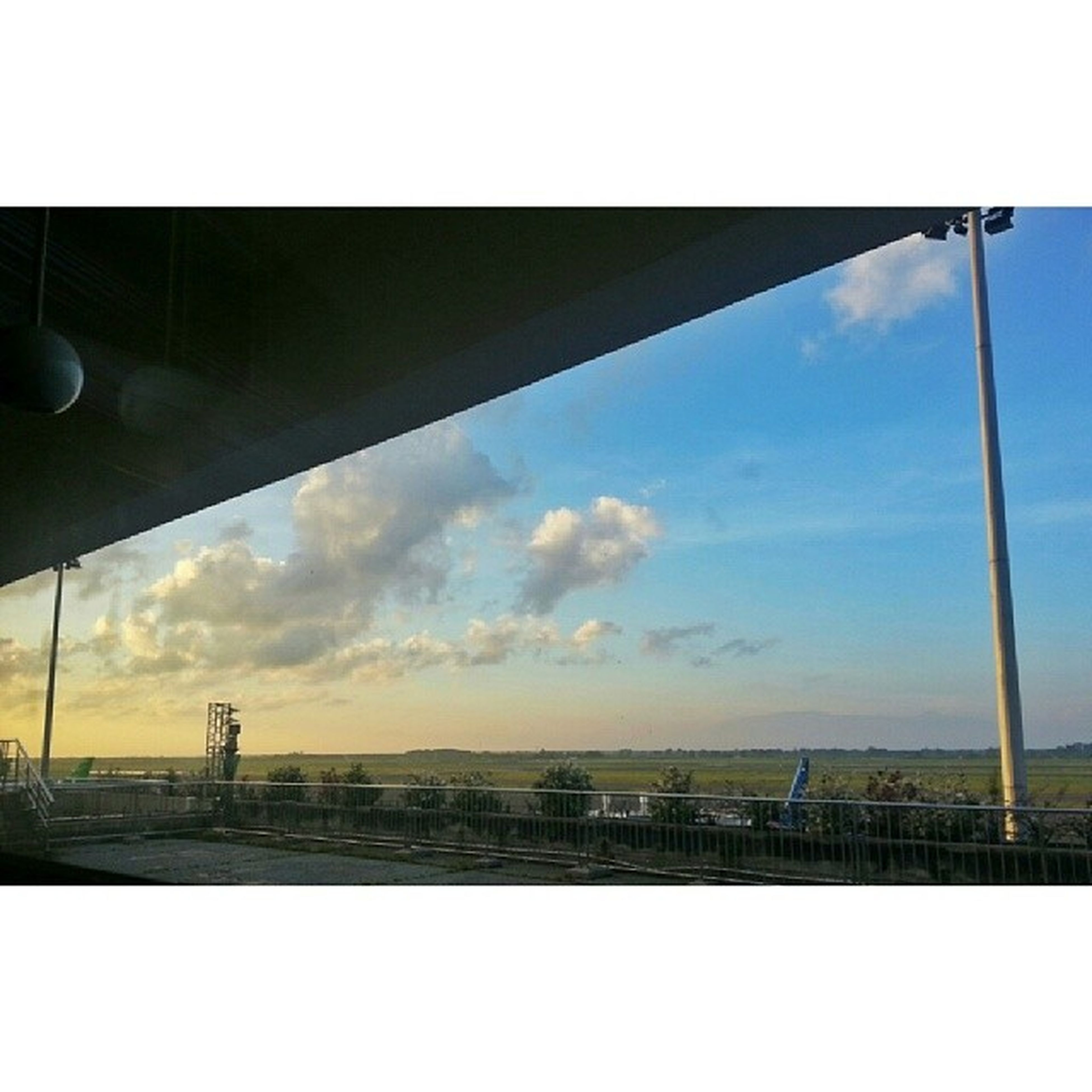 Good morning and good bye ;) Landscape From A Hotel Room Airport Sky And Clouds