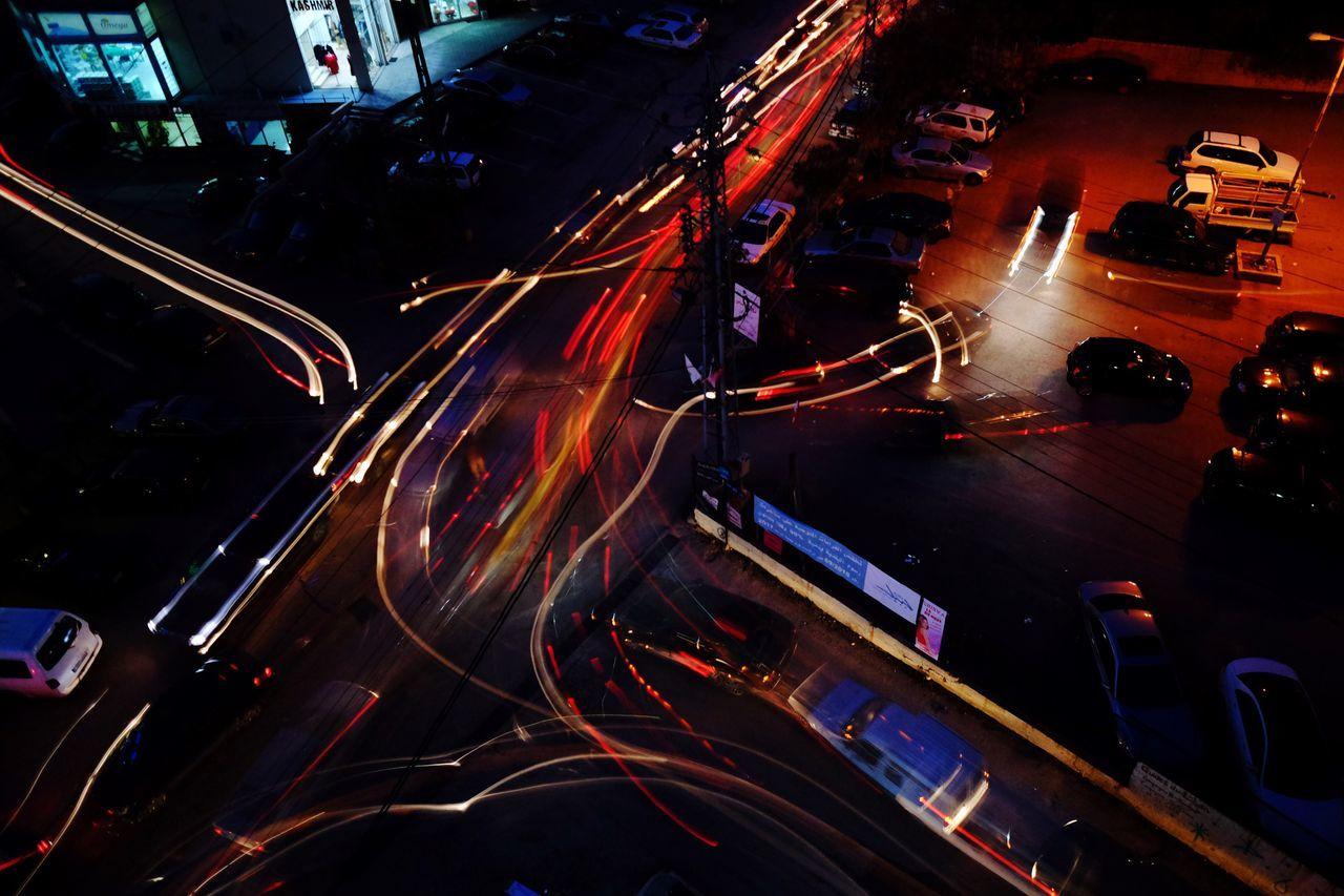 Night Long Exposure ND Filter Traffic Car Lights Chaos