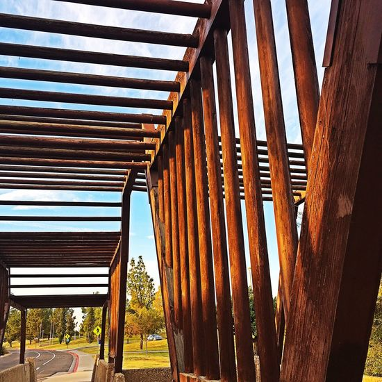 Wood Structures Wood - Material No People Tree Built Structure Outdoors Architecture Day Nature Sky Bridge