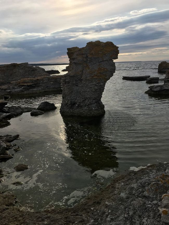 Water Sea Rock Formation Beach Rock - Object Scenics Tranquil Scene Sky Shore Beauty In Nature Tranquility Cloud - Sky Nature Eroded Geology Cliff Physical Geography Majestic Coastline Cloud Sweden My Photography EyeEmBestPics EyeEm Best Shots Purist No Edit No Filter