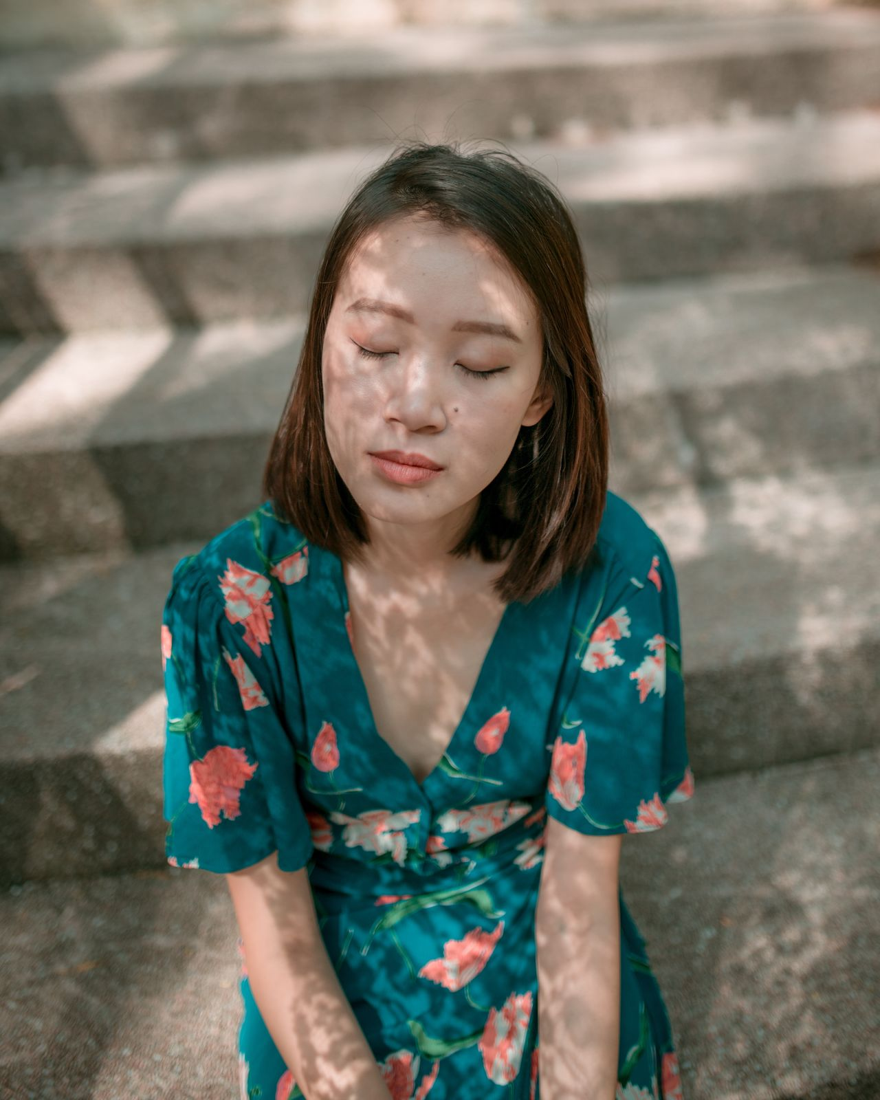 Lace Outdoors Portrait Portrait Photography Portrait Of A Woman Contemplation Beautiful Woman Individuality Beautiful People Eyes Closed  Light And Shadow Women Around The World Dreamlike The Portraitist - 2017 EyeEm Awards Light Collection Light Only Women Floral Flowers