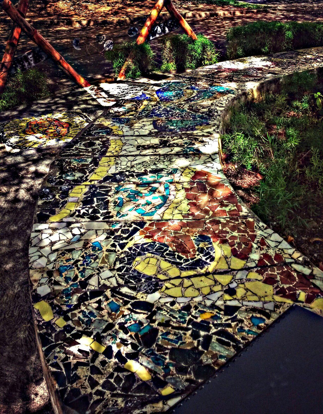 waiting Fdi Outdoors Mosaic Mosaicart Mosaic Tiles Bench Tree Shade Soaking Up The Sun