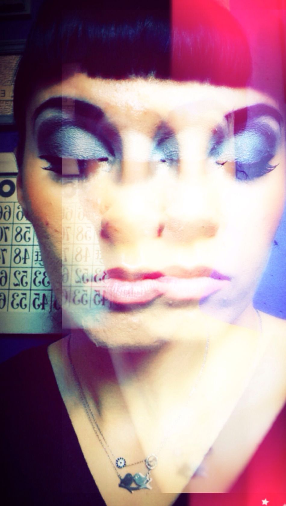 One Person Human Face Close-up Portrait Real People Beautiful Woman Looking At Camera Headshot Young Adult Young Women Beauty Indoors  One Woman Only Human Body Part Adults Only Adult People Day Selfie ✌ Eyesshut Edit Double Exposure