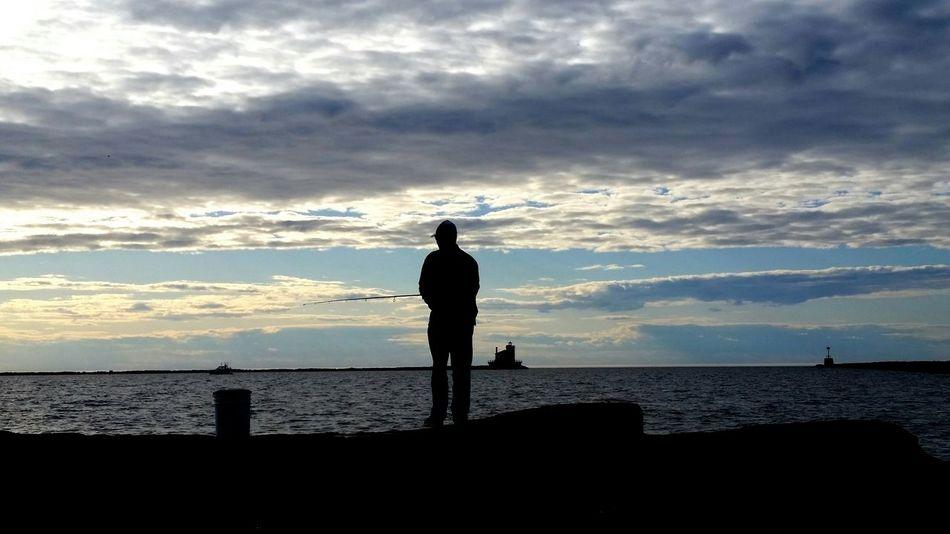 Lake Ontario :) Oswego Sunset Lake Fishing