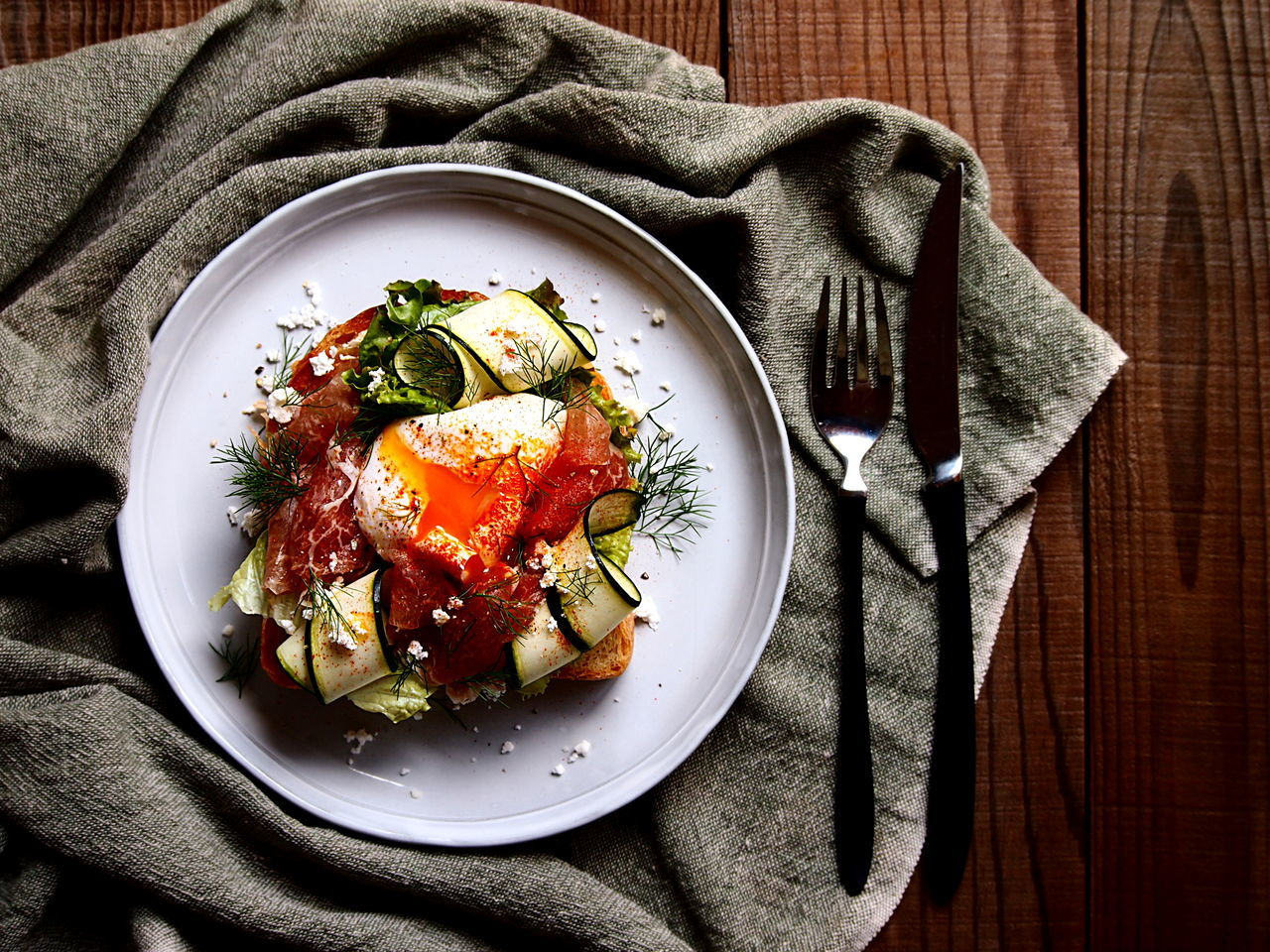 Smorrbrod Breakfast Close-up Directly Above Egg Focus On Foreground Food Food And Drink Food Photography Freshness Healthy Eating High Angle View Lunch My Point Of View On The Table Plate Toasted Bread Vegetable Visual Feast