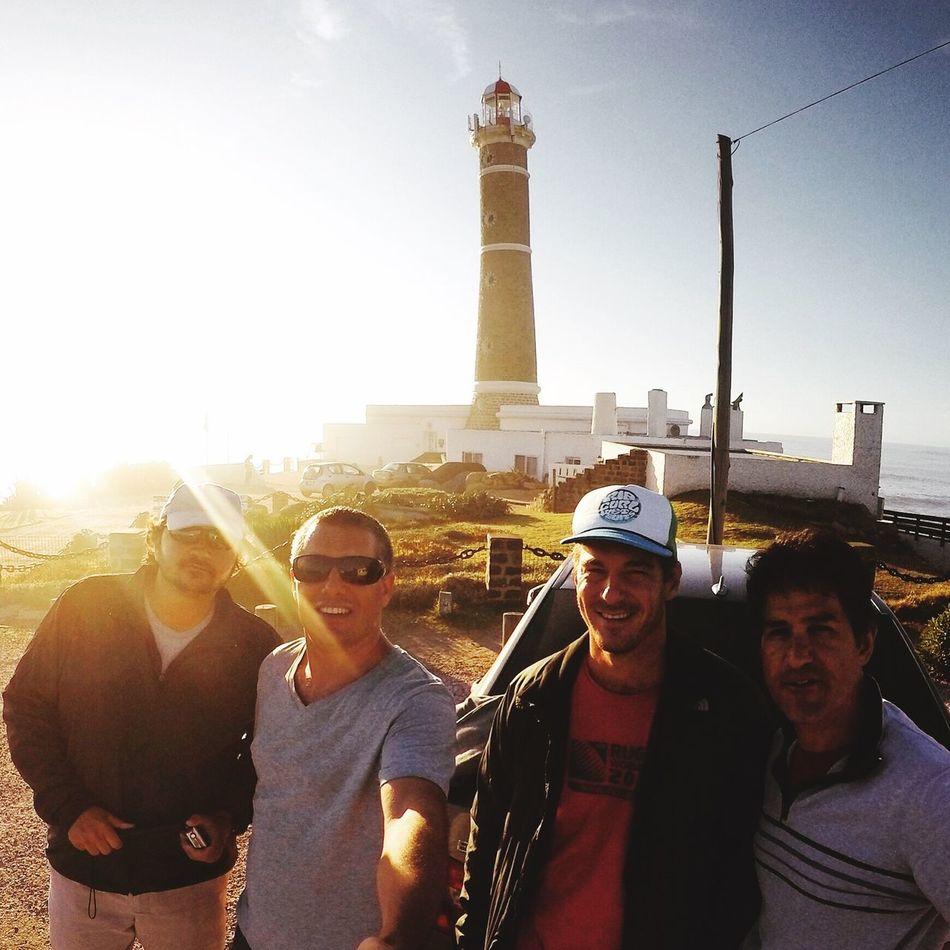 Lighthouse Fishing Friends Punta Del Este Uruguay