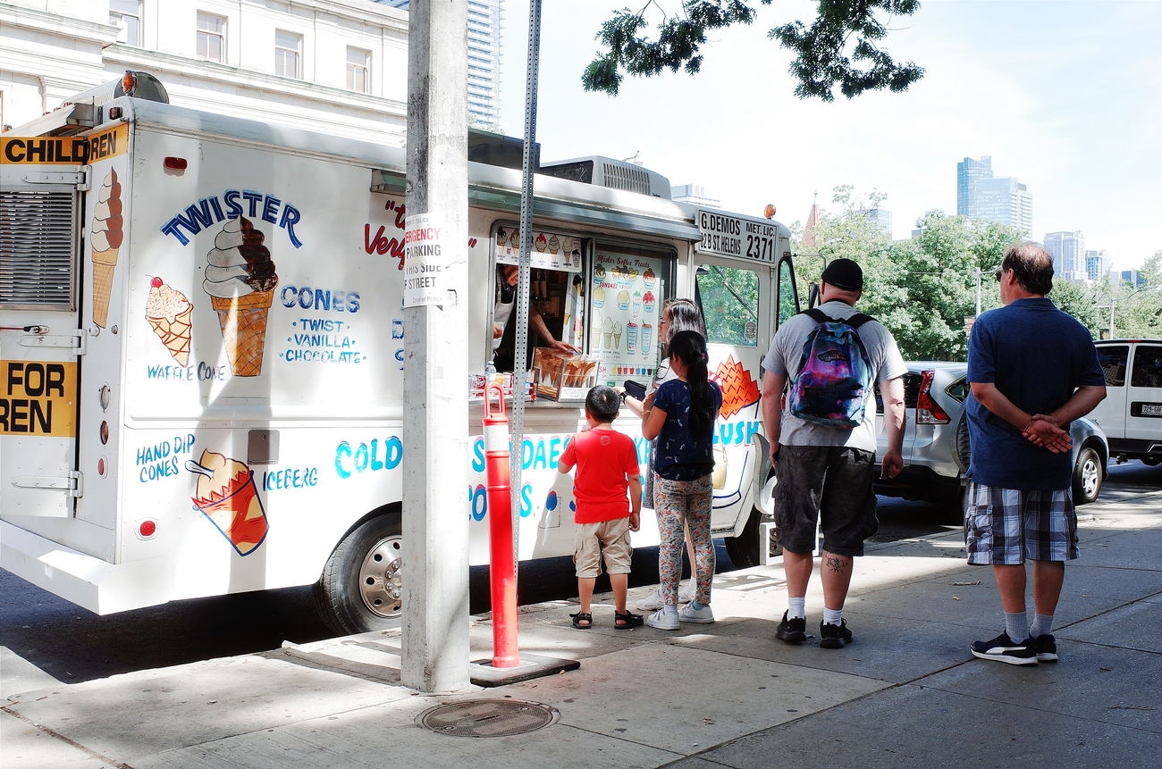 Check This Out Street Photography Ice Cream Truck Lining Up