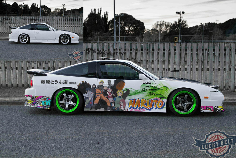 180sx Nissan Naruto Phtoshop