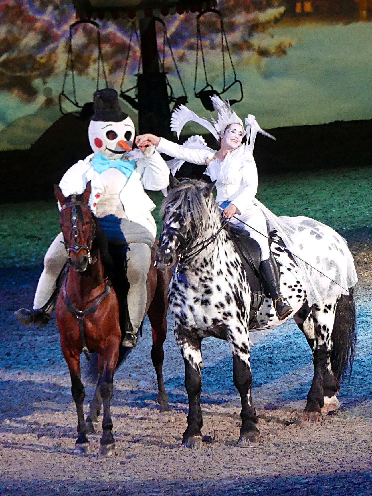Apassionata Horse Show Horses Snowman Snowman On Horse Two Horses