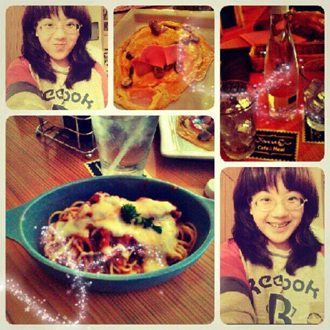 Spaghetti Stew Cheese Rice eggs ham mushroom dinner girl hangout