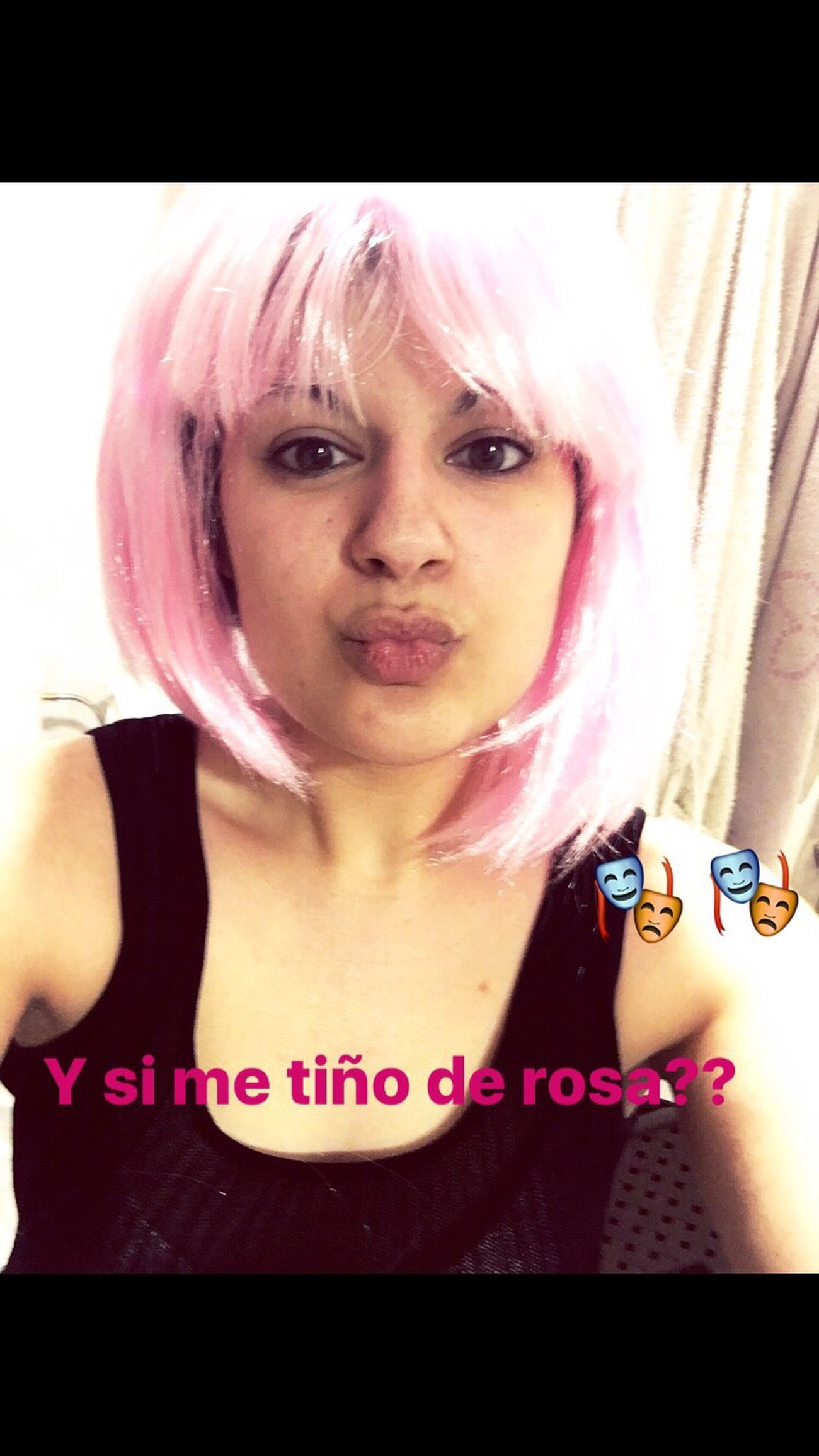 Pues no me queda tan mal el pelo rosa oyee🙄🙄😂 Color Portrait Carnival Photooftheday Day Portrait Hello World Selfie ✌ Photo That's Me Enjoying Life Check This Out Funny Taking Photos Beauty Kiss Today's Hot Look Selfportrait Bestoftheday Girl Hanging Out EyeEm Best Shots Looking At Camera Sexygirl