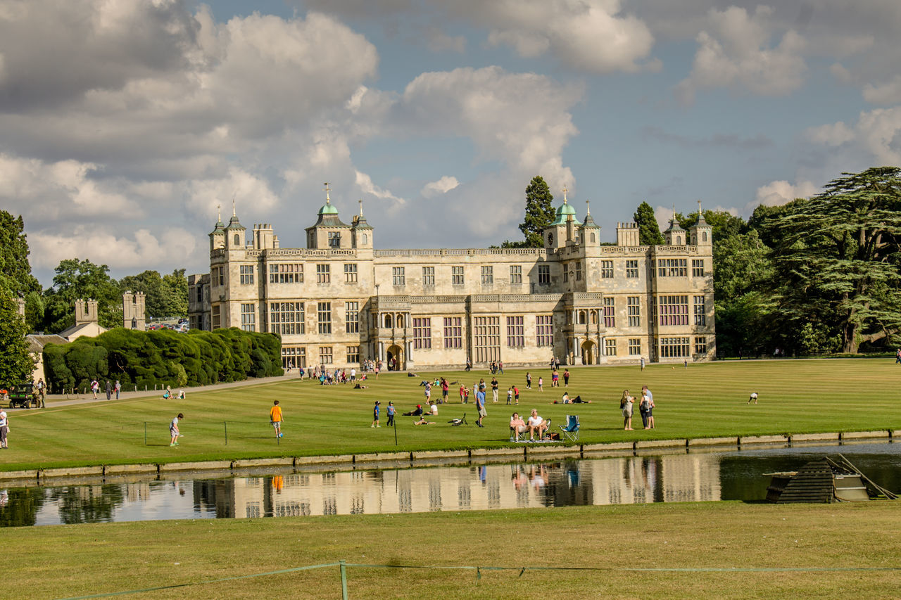 Architecture Built Structure Building Exterior Travel Destinations Tree Cloud - Sky Government Politics And Government Outdoors People Large Group Of People Day Sky Grass City Adult Adults Only Grass Tree Architecture Audley End