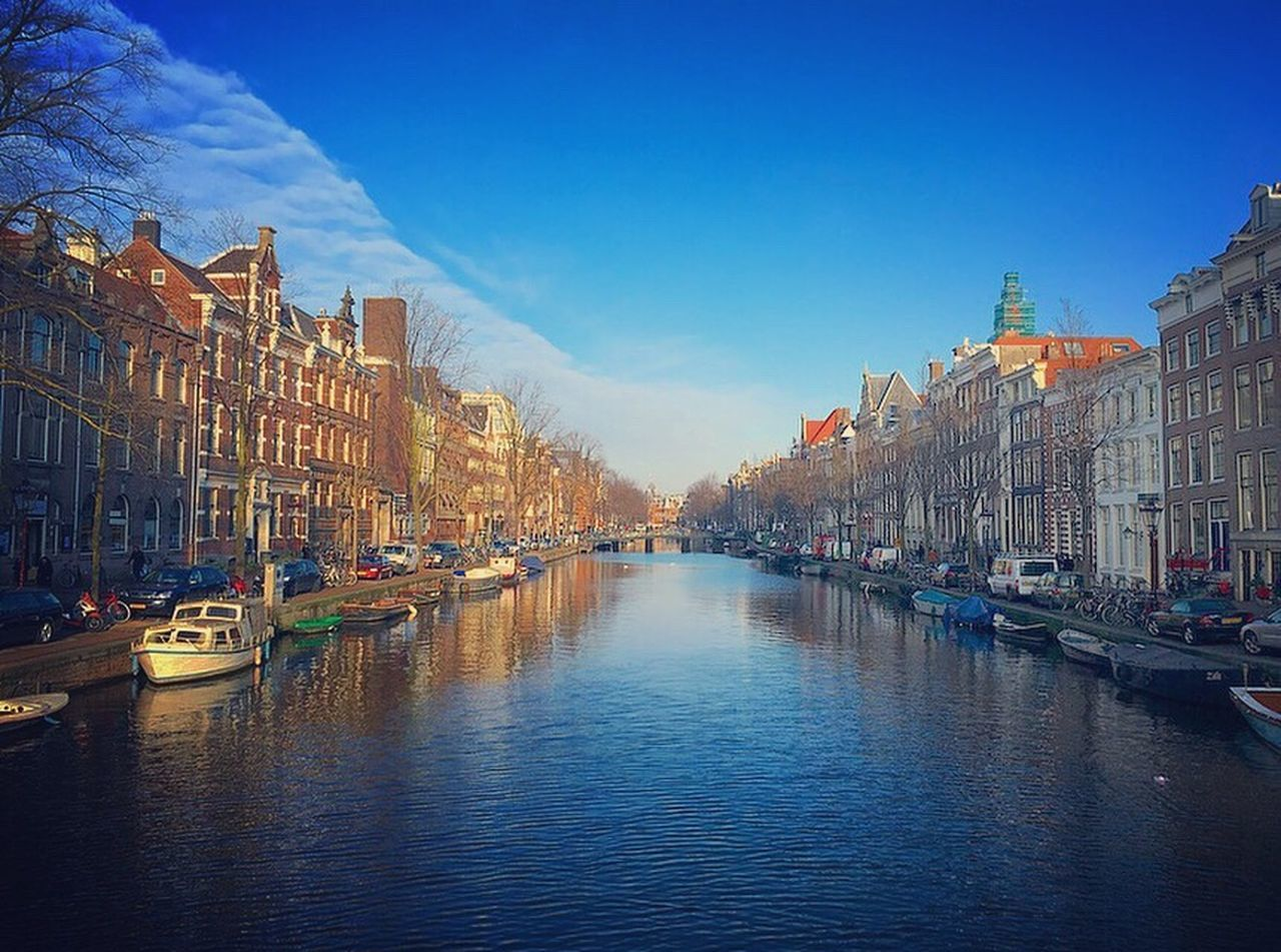 Nautical Vessel Mode Of Transport Building Exterior Transportation Water Architecture Reflection Canal City Built Structure Moored Sky Travel Destinations Outdoors No People 愛アムステルダム Netherlands ❤ 思わずチャリ停めて写真を撮りたくなるくらいの美しさ Xxx カメラ好きな人と繋がりたい 写真好きな人と繋がりたい 写真撮ってる人と繋がりたい Iamsterdam