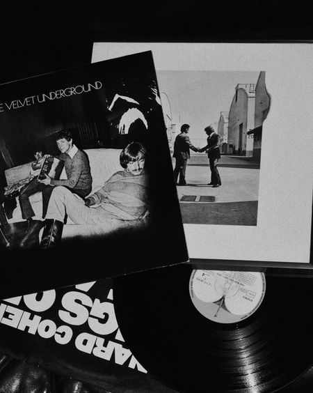Vinyl Vinyl Records Music Velvetunderground Beatles Vintage Blackandwhite Black And White Close-up