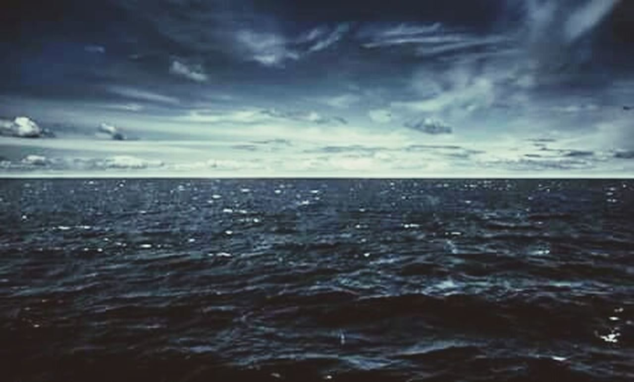 sea, nature, horizon over water, cloud - sky, cloudscape, storm, sky, scenics, tranquil scene, water, horizon, beauty in nature, no people, storm cloud, outdoors, day