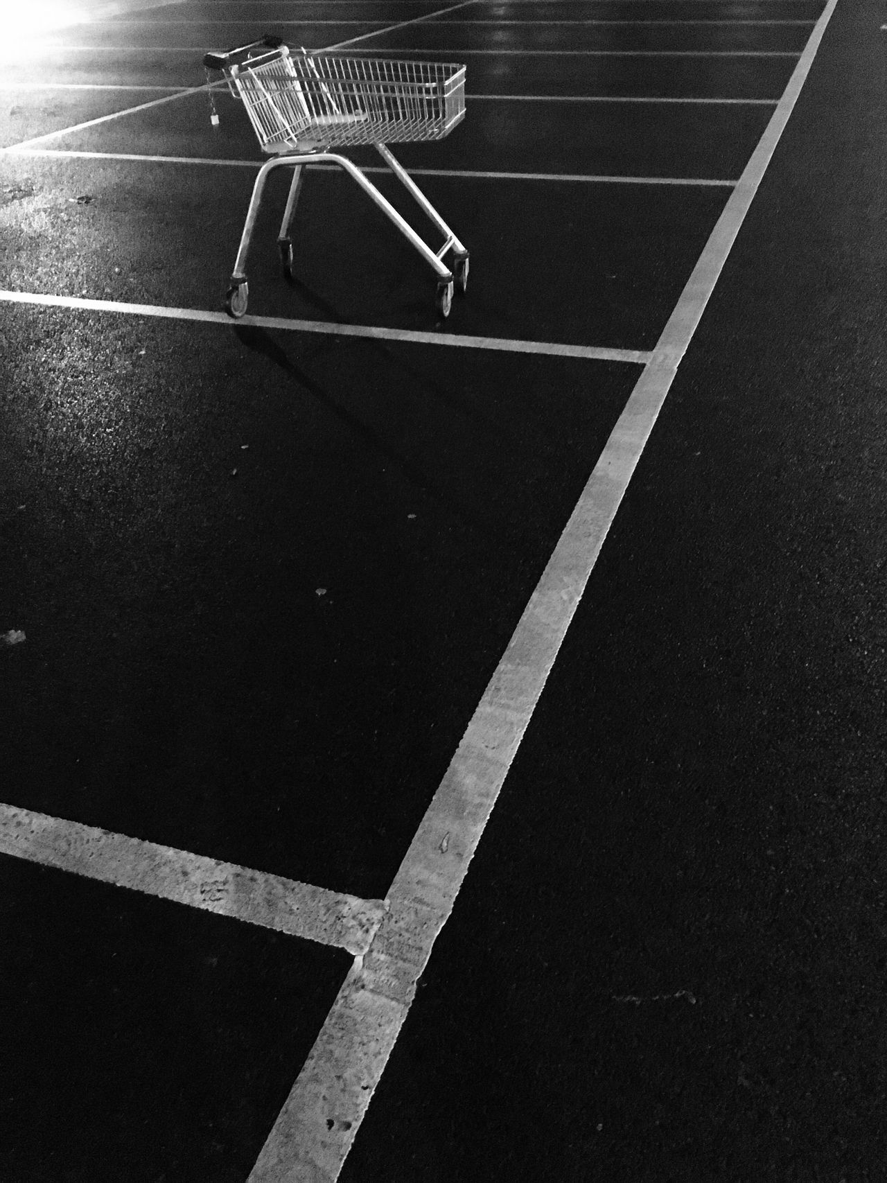 No People Indoors  Night Close-up Lone Trolley Discarded
