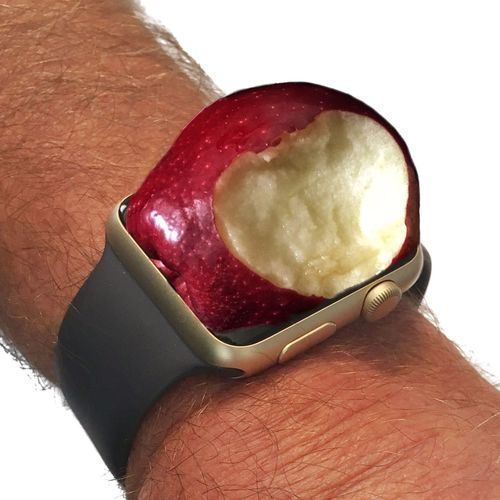 Apple iWatch Apple Apple IWatc Edited Fruit Human Body Part Human Hand IPhone Iphonephotography IWatch IWatch Apple JohnGoldenne