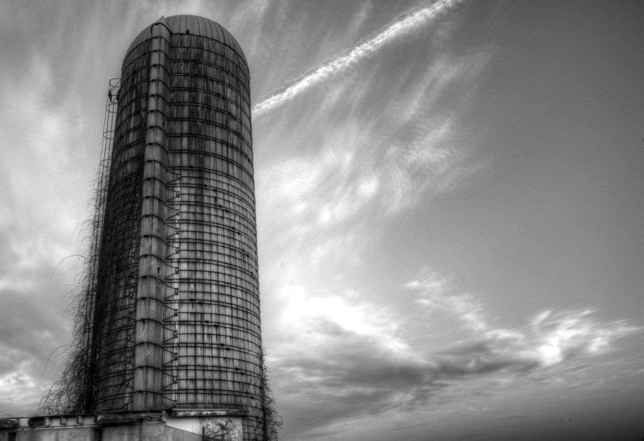 Architecture Skyscraper Built Structure Tall - High Building Exterior City Tower Sky Modern Low Angle View Office Building Building Story Travel Destinations Outdoors Tall City Life Cloud - Sky Wide Shot Cloudscape No People Silo Old Buildings Abandoned Blackandwhite Black And White