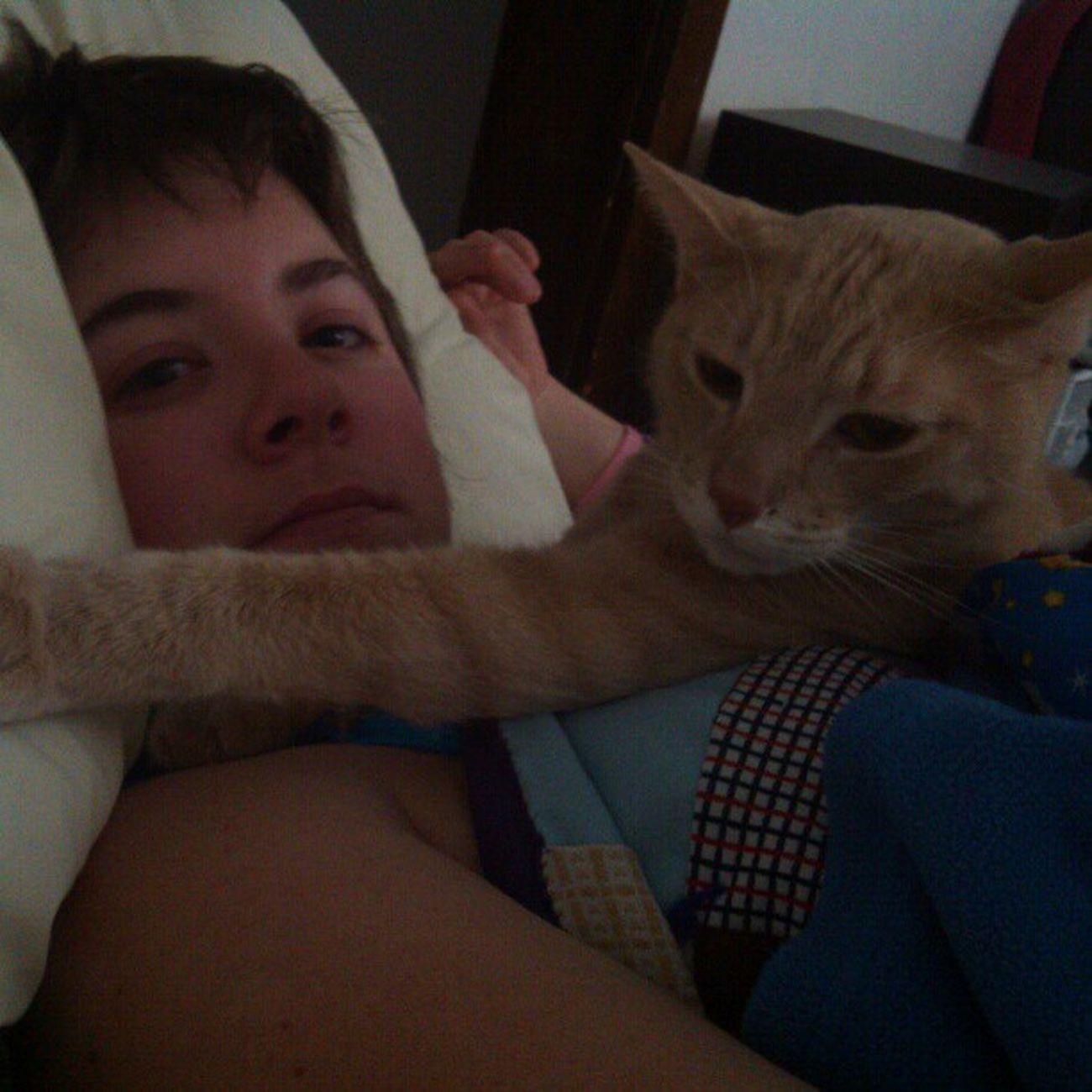 How i woke up this morning. Meow Snugglebuddy Catlady