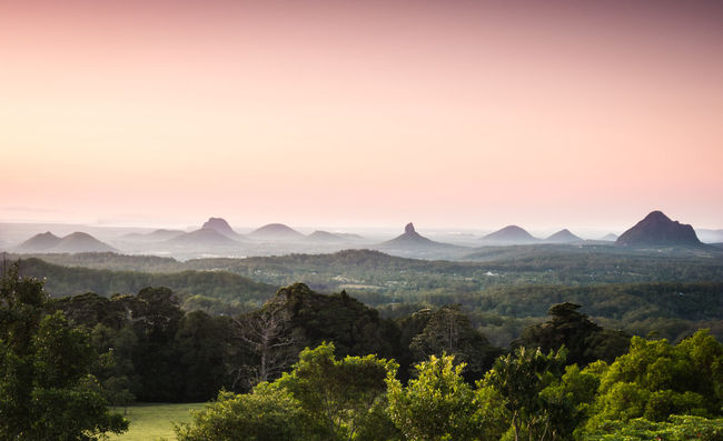 Beauty In Nature Glasshouse Mountains Landscape Maleny Mountain Mountain Range Nature Orange Color Outdoors Scenics Sunrise Tranquil Scene Tranquility Travel Destinations