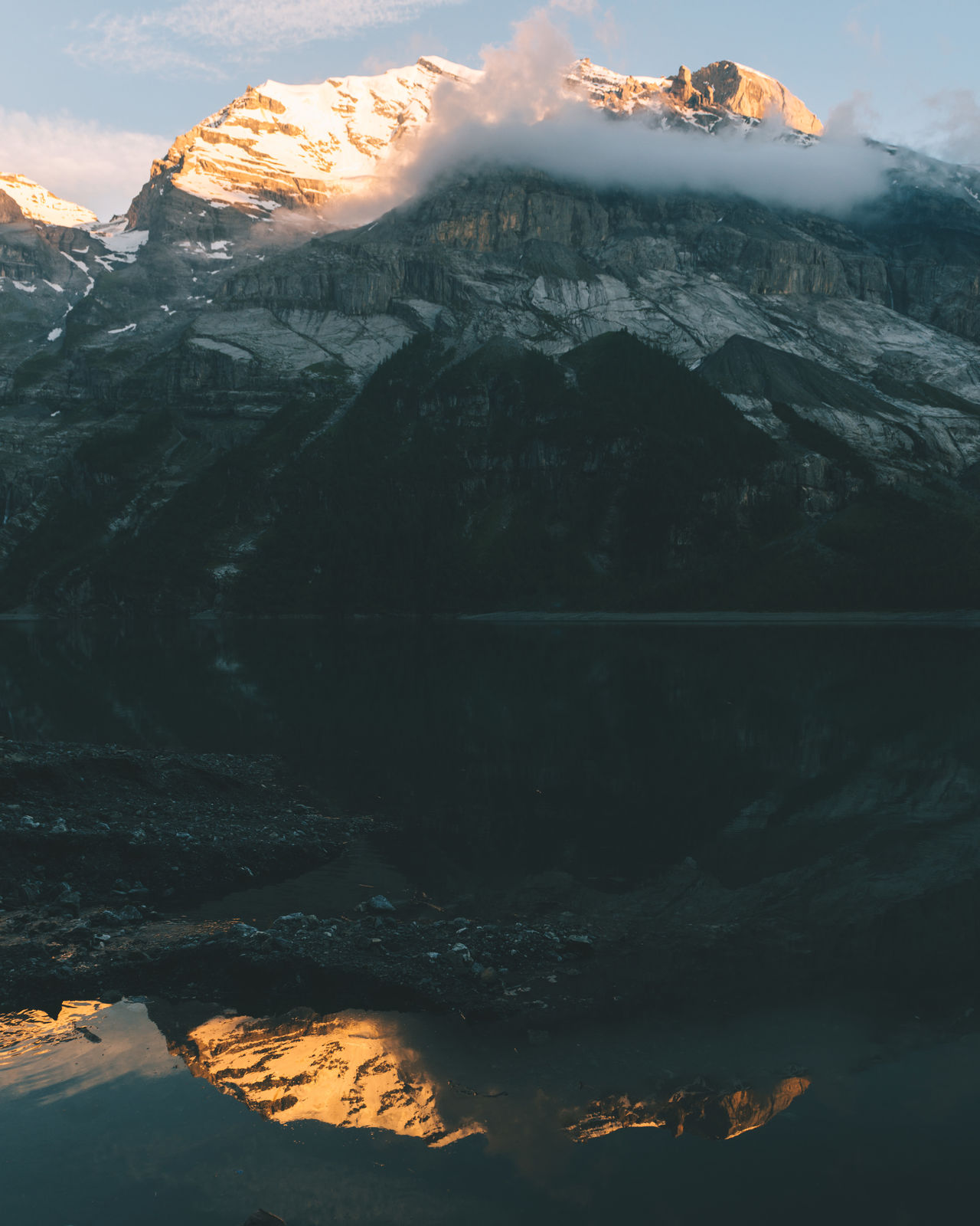 Reflection of Sunset at mountain lake Aerial View Backgrounds Beauty In Nature Day Eye4photography  EyeEm Gallery EyeEm Nature Lover Fog Ice Lake Landscape_Collection Landscape_photography Mountain Mountain Range Nature No People Outdoors Reflection Scenics Sky Space Sunset Water