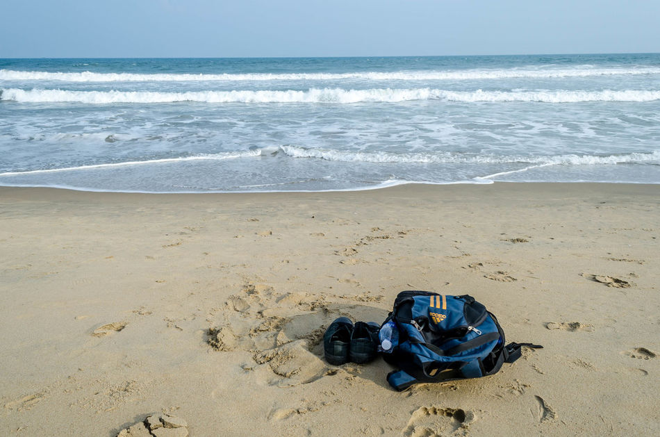 Simple things Beach Day Horizon Over Water India Nature Outdoors Pondicherry Sand Sea Solace Solo Solotraveler Travel