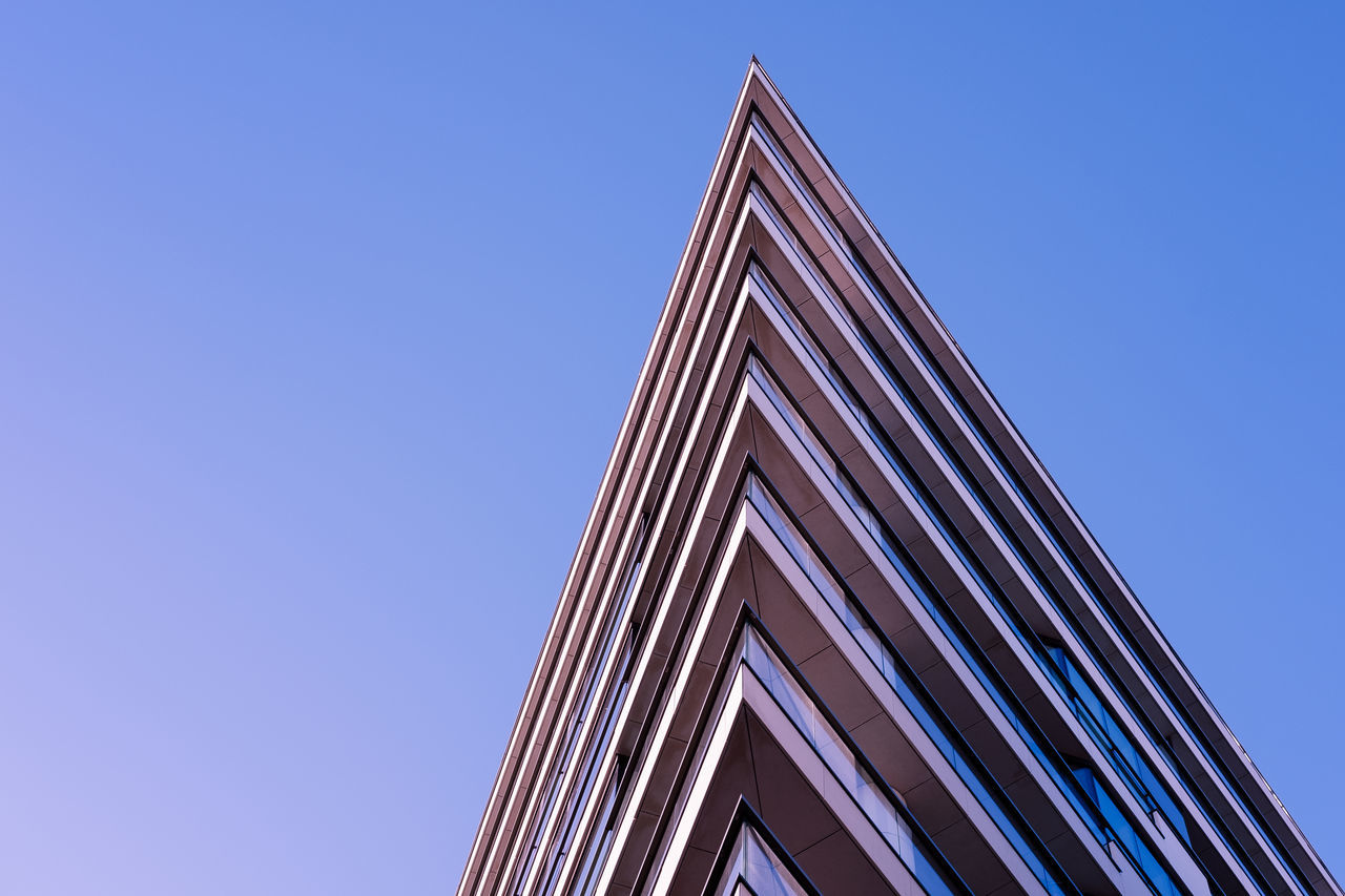 Beautiful stock photos of architecture, low angle view, clear sky, built structure