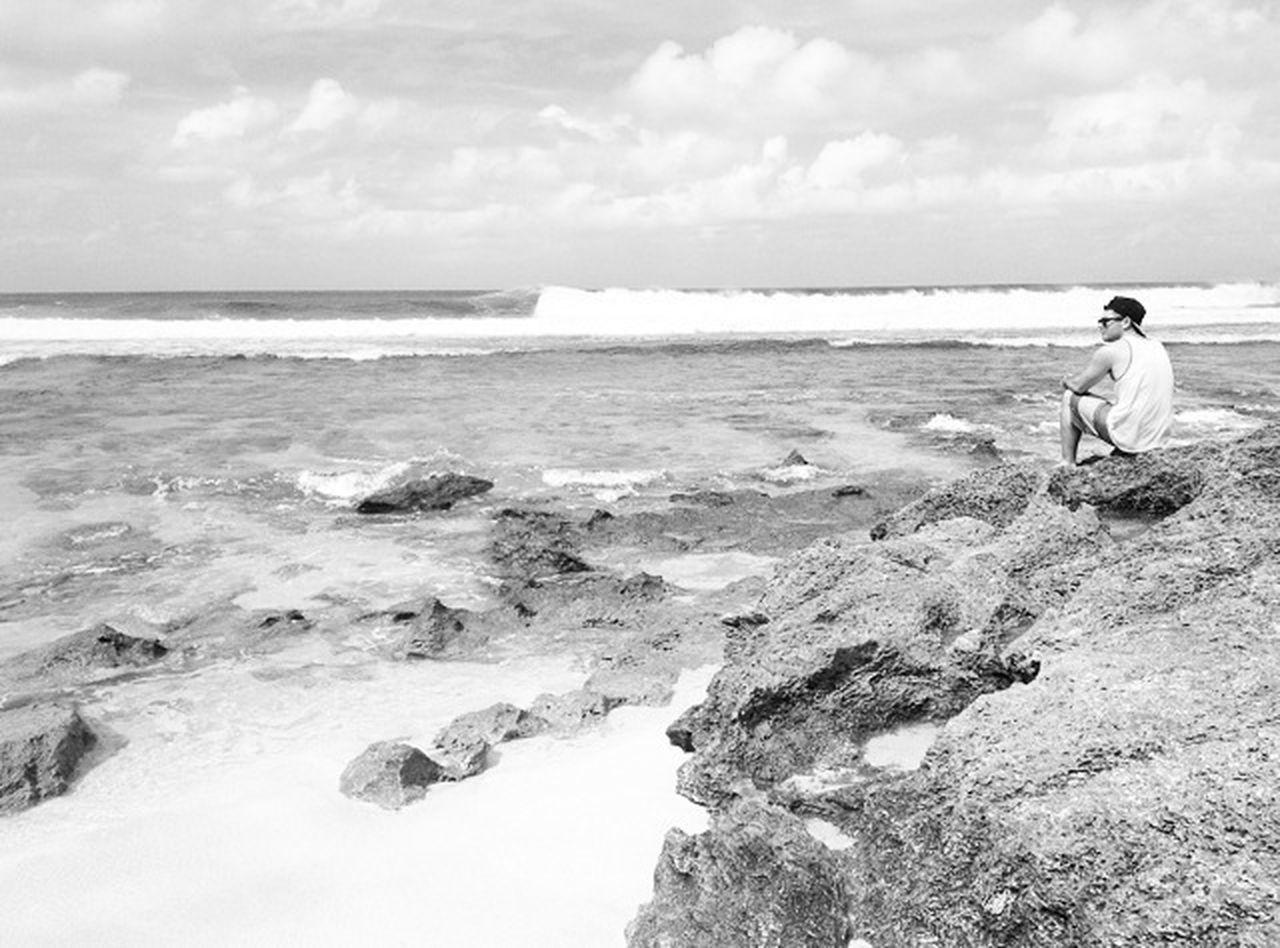 Hawaii Model Beach Black And White