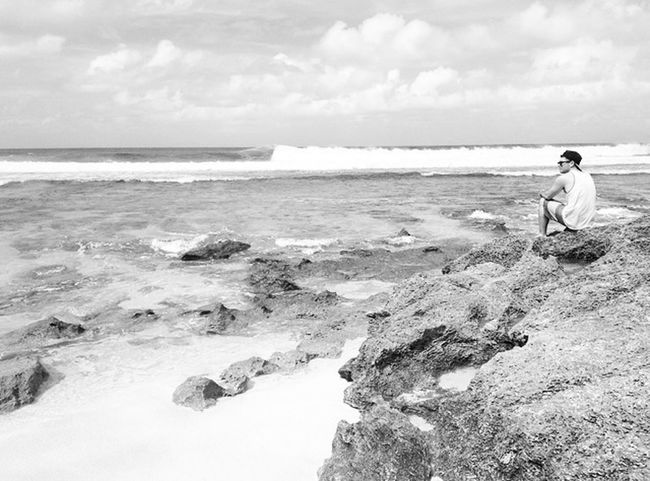 Hawaii Model Beach Black And White
