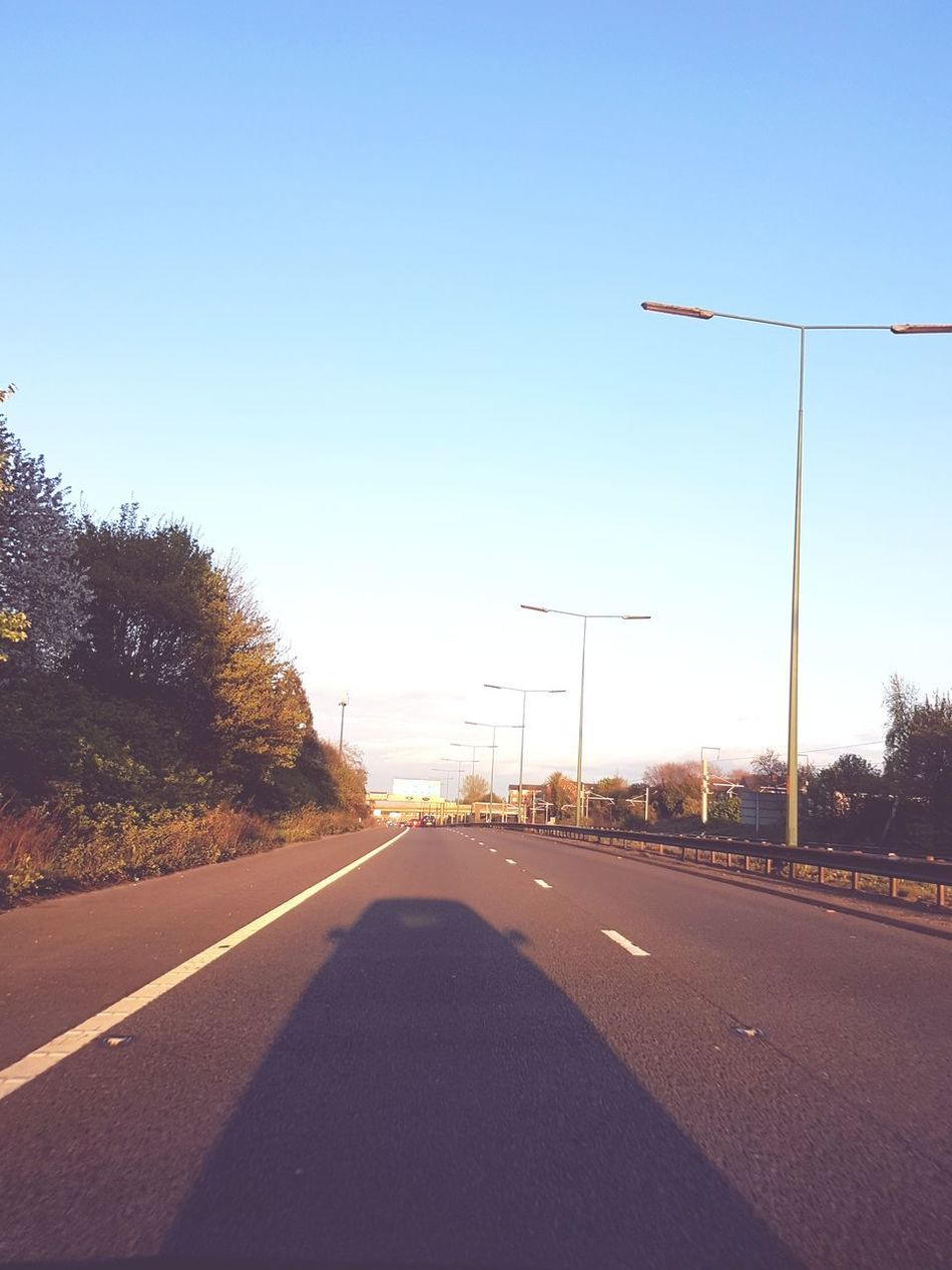 No People Day Outdoors Sky Driving Blue Sky Motor Motorway Shadow Car Shadow Hobbies Lovely Day Sun Setting Driving Around Salford
