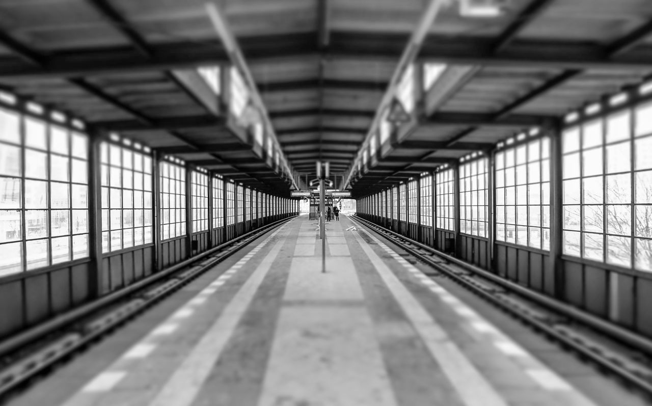 Architecture Black & White Black And White Built Structure Day Indoors  No People Railroad Station Railroad Station Platform Tilt-shift Tiltshift Transportation Urban Urban Exploration Exeptional Photographs