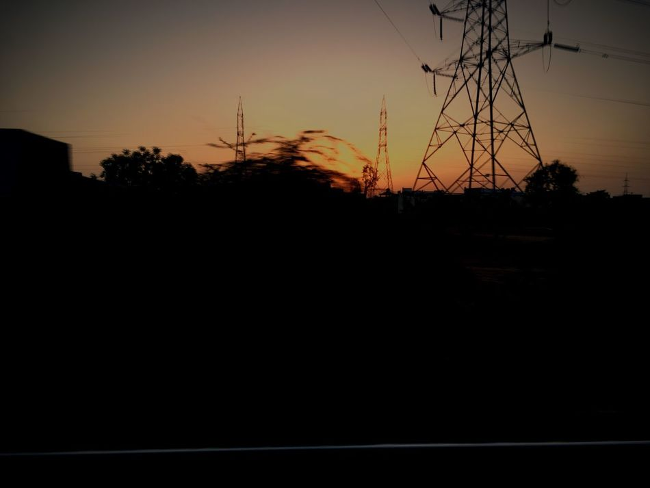 Silhouette Sunset Tree Nature Sky Cable No People Electricity Pylon Outdoors Landscape Scenics Beauty In Nature Day