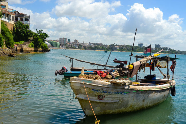 Architecture Boat Building Exterior Built Structure City Cloud Cloud - Sky East Africa Kenya Mode Of Transport Mombasa MombasaRaha Moored Nautical Vessel River Sky Transportation Travel Travel Photography Tree Water Waterfront
