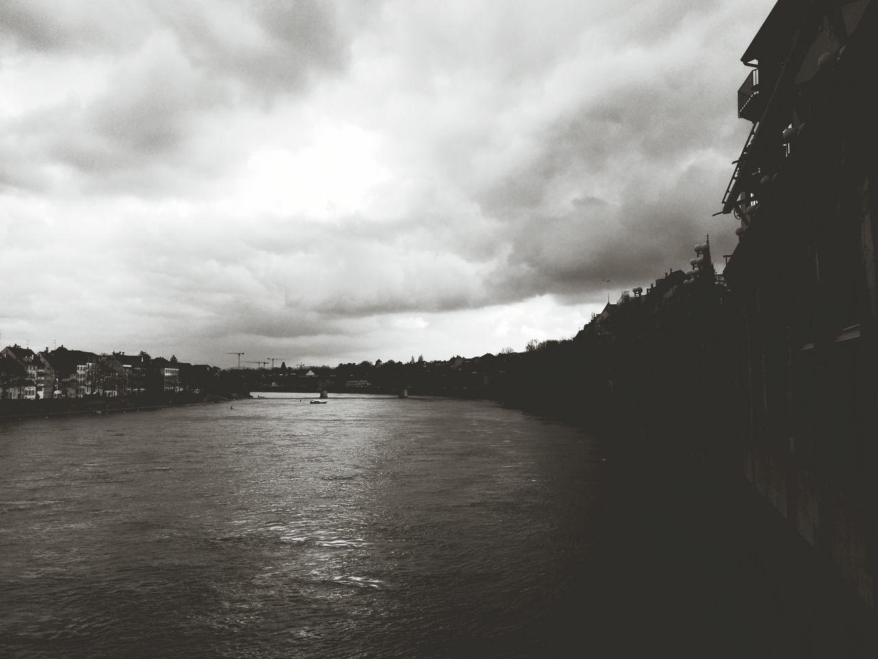 Der Rhein... - Switzerland Andrography Blackandwhite Landscape Basel River Rhein
