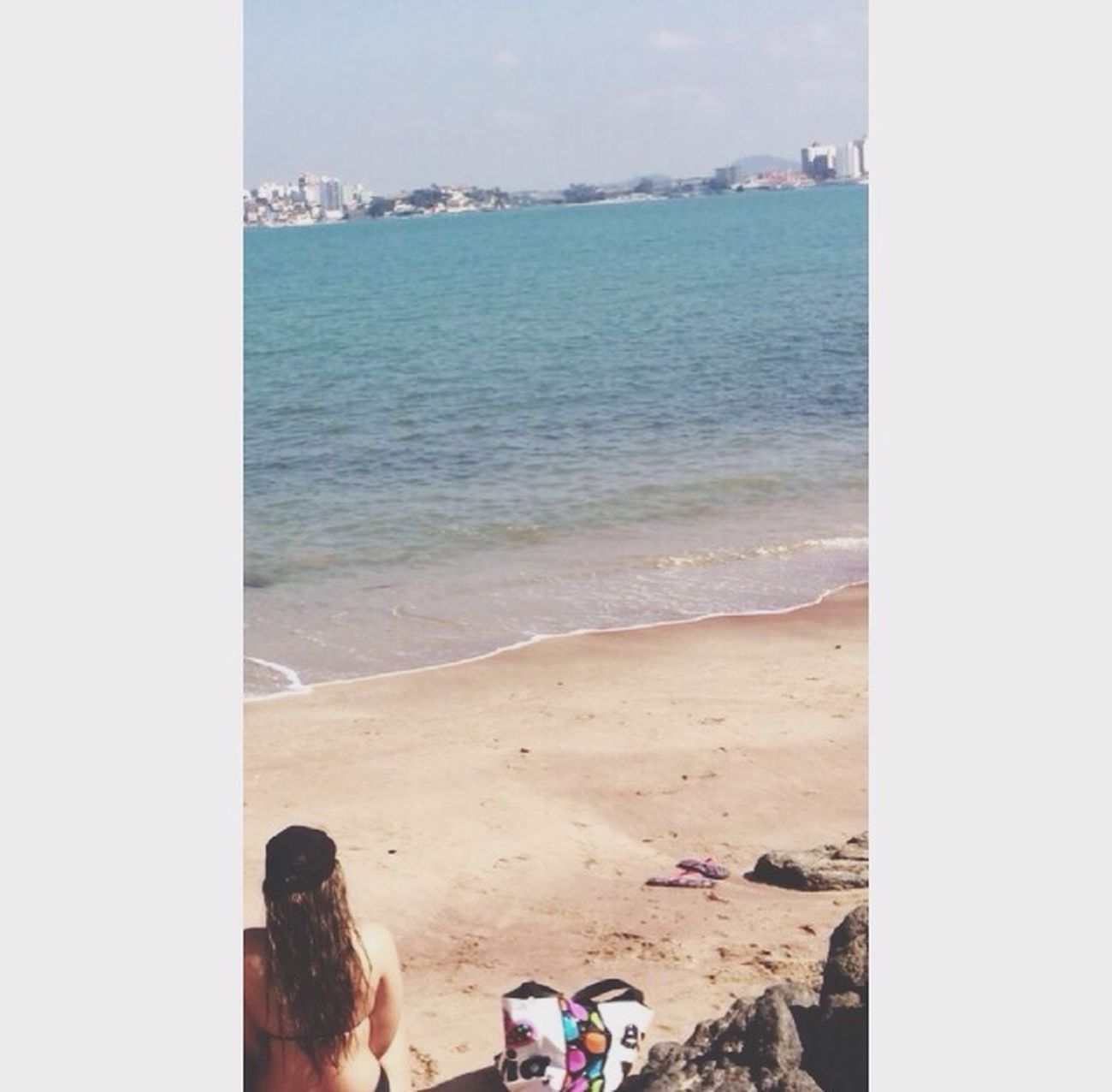 Relaxing Enjoying Life Beach Selfie