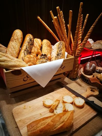 Bread Station Bread Food Baguette Food And Drink Healthy Eating French Food Wheat Bakery Wholegrain Loaf Of Bread Fresh Foodie Foodiegram Foodphotography