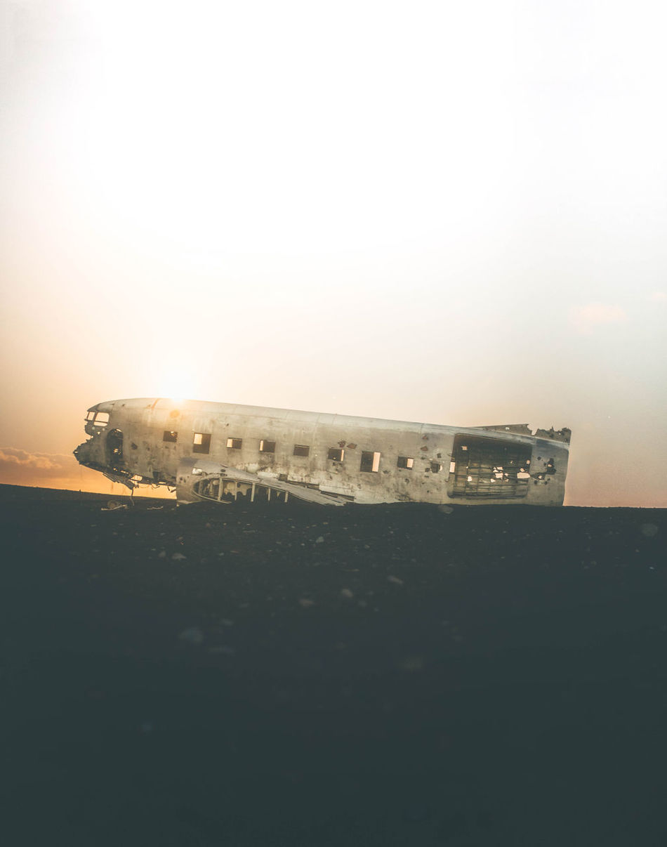DC-3 Plane Wreckage In Vik Iceland. Equipment: Nikon D750 - Sigma 12-24mm Beauty In Nature Outdoors Beach Sunset Silhouette Travel Photography Travel Travel Destinations Icland Adventurer Adventure Plane Nikonphotography Sigma Folk Vik Travelphotography No People EyeEmNewHere