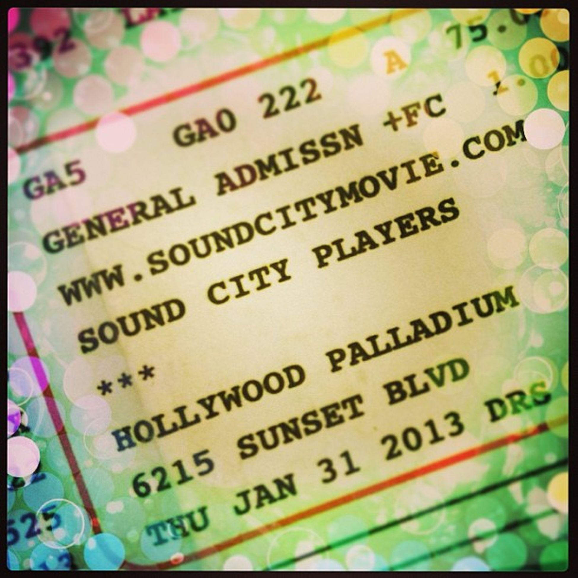 Ticket in hand...gonna be EPIC Soundcityplayers Davegrohl Palladium
