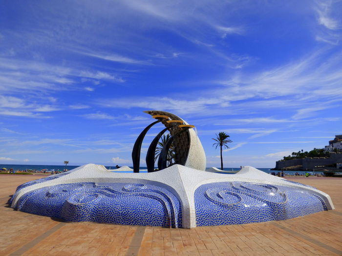 Blue Day Fallero Work Of Artist Alejandro Santaeulalia Outdoors Peñíscola Sky Tranquil Scene Tranquility