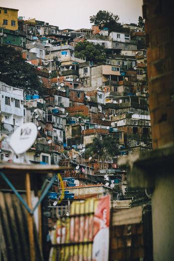 Rocinha favela, Rio de Janeiro - Brazil Brazil Chaos D Dark Disorder Favela Rocinha Houses Rio De Janeiro Architecture Building Exterior Built Structure City Cityscape Danger Dangerous Day Favela Favelas Houses And Windows No People Outdoors Slum Vertical
