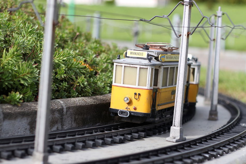 Minimundus 50mm Close-up Transportation Railroad Track Yellow Outdoors No People