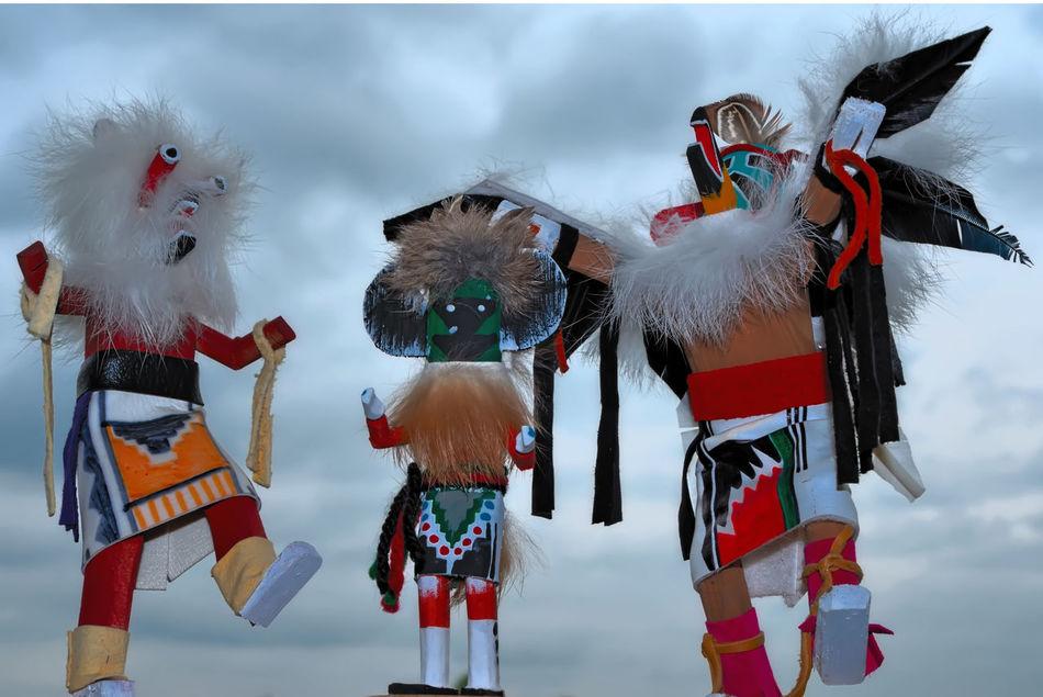 The Kachina dolls dancing! Arizona Cloud Cloud - Sky Cloudy Day Fantasy Hopi Culture Kachina Dolls Mask - Disguise Multi Colored Native American Art Navajo NavajoNation Person Sky