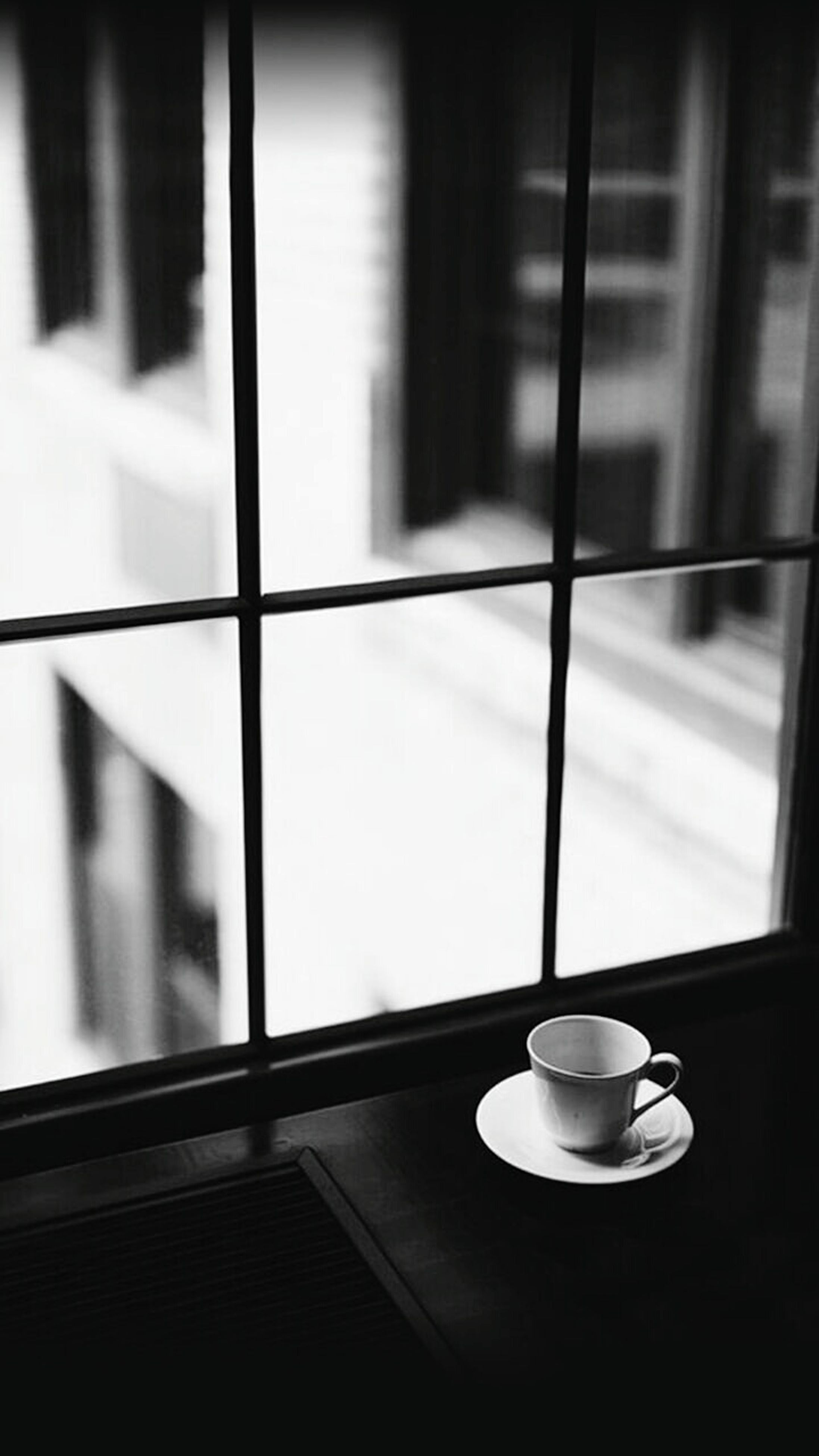 indoors, window, glass - material, table, transparent, home interior, glass, drink, food and drink, architecture, built structure, close-up, window sill, reflection, refreshment, focus on foreground, still life, day, no people, coffee cup