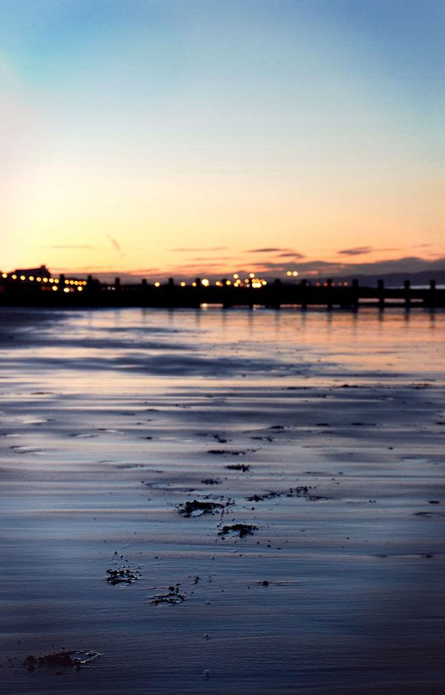 Portobello beach at night was one of many incredible experiences from my trip to Scotland. Beach Beauty In Nature EyeEm Gallery EyeEm Masterclass EyeEm Nature Lover Memories Nature Nature Portobello Beach, Edinburgh Reflection Scenics Scotland Sunset