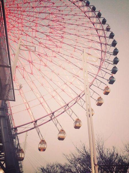 Japan OSAKA A Ferris Wheel Denpojan Travel