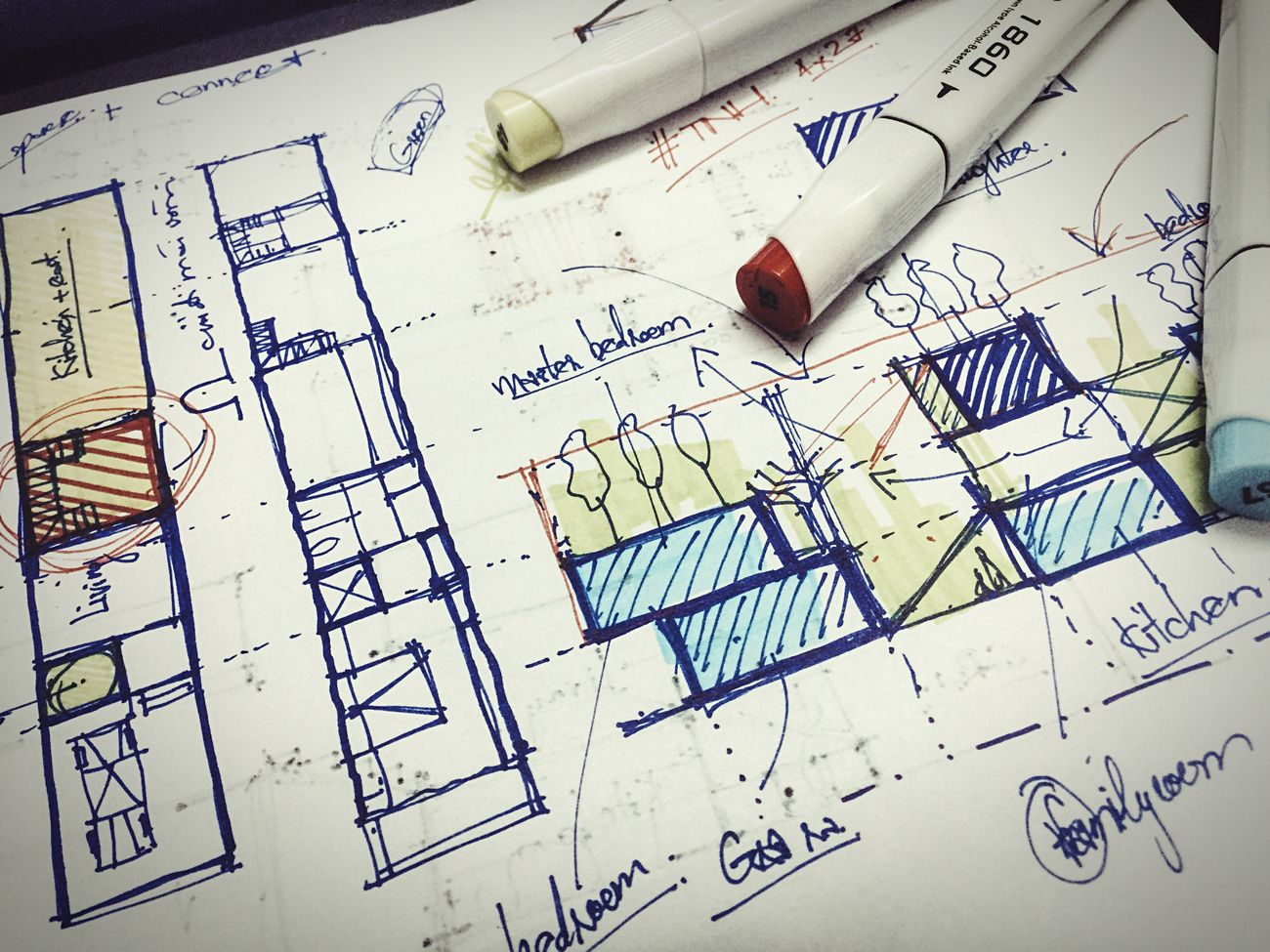 Night Sketching ARCHITECT Concept