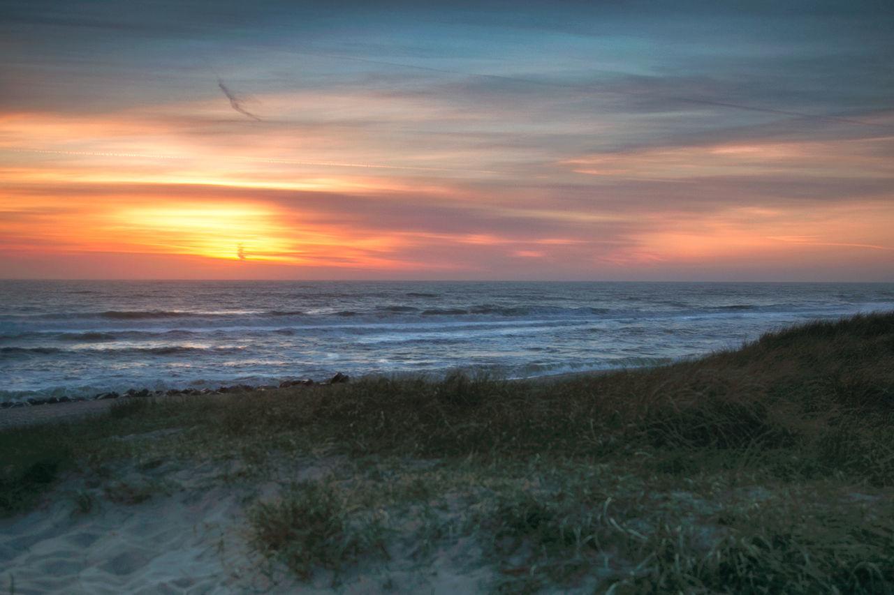 Beach Beauty In Nature Day Horizon Over Water Nature No People Sea Sky Sunset Water Danmark Sunset_collection Meer Sonnenuntergang Sand Luminosity Freedom EyeEmNewHere