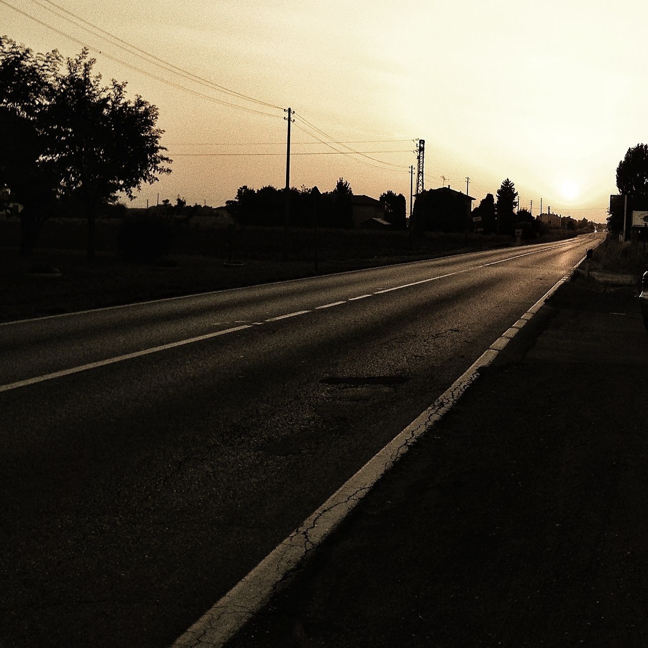 way to the light Skyline Sunny Day Sunset Sky
