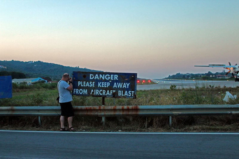 Keep Away AirPlane ✈ Airport Greece Men Orange Sky Skiathos_island Sky Sunset
