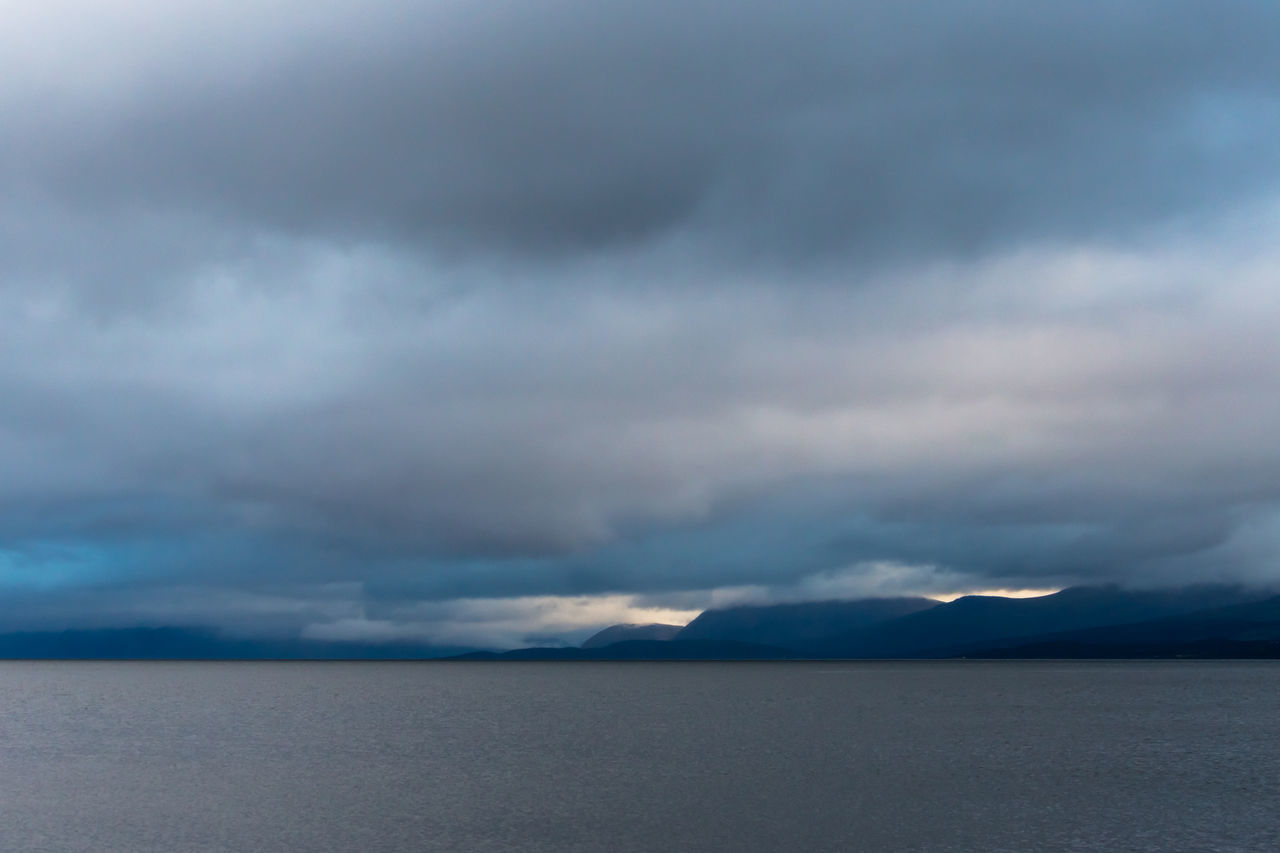 Arctic Atmospheric Mood Beauty In Nature Cloud - Sky Day Dramatic Sky Fjord Horizon Over Water Idyllic Landscape Lyngen Alps Midnight Sun Nature No People Northern Norway Norway Outdoors Scenics Sky Storm Cloud Sunset Tranquil Scene Tranquility Water Weather